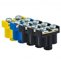 Zestaw Zacisków Podwójnych, 3 <br />Kolory, 10 x (2 x 1-4mm2), 400V