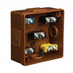 Puszka Instalacyjna VP-21 Z zaciskami 1-4 mm, Dekiel na 2 wkręty, IP55