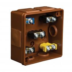 Puszka Instalacyjna VP-22 Z zaciskami 1-4 mm, Dekiel na 2 wkręty, IP55