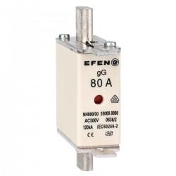 N Wkładka bezpiecznikowa Gr.000 80A AC 500V gG