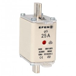 N Wkładka bezpiecznikowa Gr.00 25A AC 500V gG