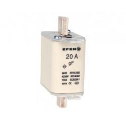 N Wkładka bezpiecznikowa szybka Gr.00 20A AC 500V gF
