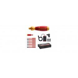 Wkrętak elektryczny zestaw 2 speedE® mieszany 13-cz. w skrzynce L-Boxx Mini z bitami slimBit, adapterem easyTorque, bateriami