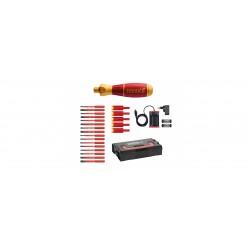 Wkrętak elektryczny zestaw 3 speedE® mieszany 25-cz. w skrzynce L-Boxx Mini z bitami slimBit, adapterami easyTorque, bateriami