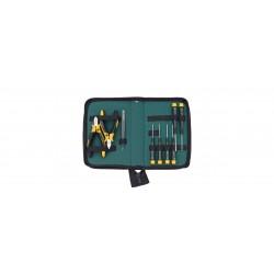 Zestaw narzędzi ESD szczypce, wkrętaki, pęseta, 9-cz. w torbie