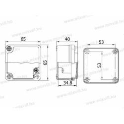 ALUBOX-502 Skrzynka aluminiowa IP67 65x65x40mm