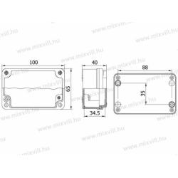 ALUBOX-503 Skrzynka aluminiowa IP67 100x65x40mm