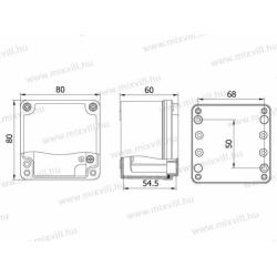 ALUBOX-504 Skrzynia aluminiowa IP67 80x80x60mm