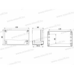 ALUBOX-505 Skrzynka aluminiowa IP67 130x80x60mm