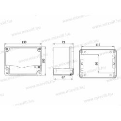 ALUBOX-508 Skrzynka aluminiowa IP67 130x100x73mm