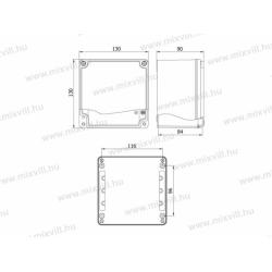 ALUBOX-511 Skrzynka aluminiowa IP67 130x130x90mm