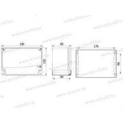 ALUBOX-512 Skrzynka aluminiowa IP67 190x130x90mm