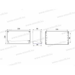 ALUBOX-514 Skrzynka aluminiowa IP67 230x130x90mm
