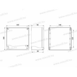 ALUBOX-516 Skrzynka aluminiowa IP67 160x160x90mm
