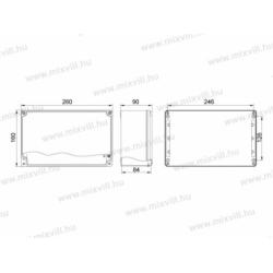 Alubox-517H 160x260x90 IP67