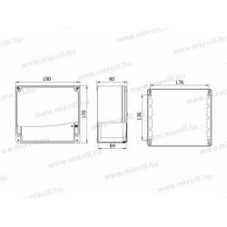 ALUBOX-518 Skrzynka aluminiowa IP67 190x170x90mm
