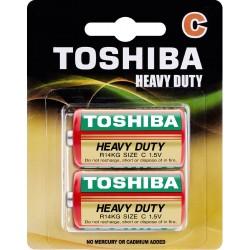 Baterie cynkowo-węglowe R14, C, blister 2 sztuki Toshiba