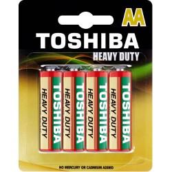 Baterie cynkowo-węglowe AA, blister 4 sztuki Toshiba
