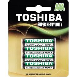 Baterie cynkowo-węglowe AAA, blister 4 sztuki Toshiba