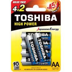 Baterie alkaliczne Toshiba, AA, LR6GCNP BP6 2F (4+2szt) (LR6GCNP BP6 2F)