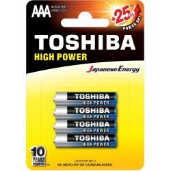Bateria alkaliczna LR03 / AAA, 4 sztuki Toshiba
