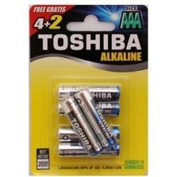 Baterie alkaliczne Toshiba (LR03GCNP BP6 2F)