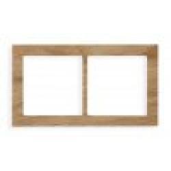 Ramka uniwersalna 2-krotna - drewno (Dąb)