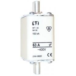Wkładki topikowe NH00/WT-00 gF 40A/500V