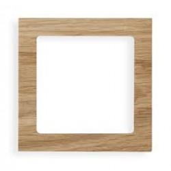Ramka uniwersalna 1-krotna - drewno (Dąb)