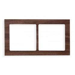 Ramka uniwersalna 2-krotna - drewno (orzech amerykański)