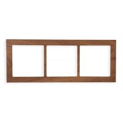 Ramka uniwersalna 3-krotna - drewno (Machoń)