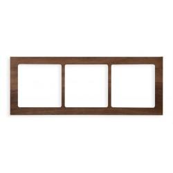 Ramka uniwersalna 3-krotna - drewno (orzech amerykański)