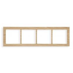 Ramka uniwersalna 4-krotna - drewno (Dąb)