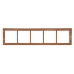 Ramka uniwersalna 5-krotna - drewno (Machoń)