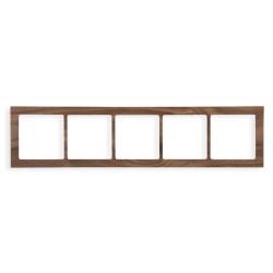 Ramka uniwersalna 5-krotna - drewno (orzech amerykański)