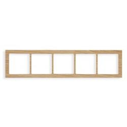 Ramka uniwersalna 5-krotna - drewno (Dąb)