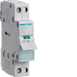 SBN116, Modułowy rozłącznik izolacyjny, 1P 16A,