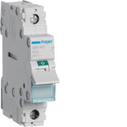 SBN140, Modułowy rozłącznik izolacyjny, 1P 40A,