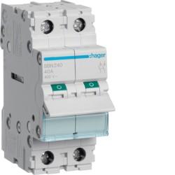 SBN240, Modułowy rozłącznik izolacyjny, 2P 40A,
