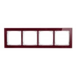 Ramka uniwersalna 4-krotna - efekt szkła