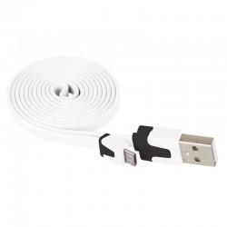 Przewód USB 2.0 wtyk A - wtyk micro B, 1m, biały