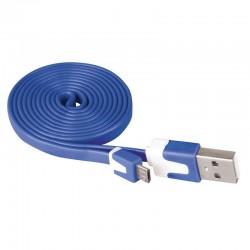 Przewód USB 2.0 wtyk A - wtyk micro B, 1m, niebieski