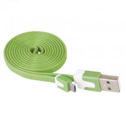 Przewód USB 2.0 wtyk A - wtyk micro B, 1m, zielony