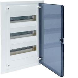 HAGER, Rozdzielnia 3x12, p/t IP40, GOLF, drzwi transparentne