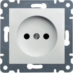 lumina 2 Gniazdo wtyczkowe bez uziemienia, 16A/250VAC, biały