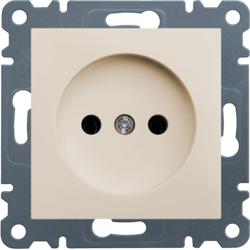lumina 2 Gniazdo wtyczkowe bez uziemienia, 16A/250VAC, kremowy