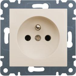lumina 2 Gniazdo wtyczkowe z uziemieniem, 16A/250VAC, kremowy