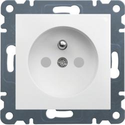 lumina 2 Gniazdo wtyczkowe z uziemieniem, przesłony styków, 16 A/250 VAC, biały