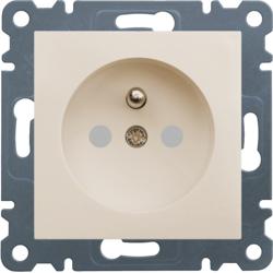 lumina 2 Gniazdo wtyczkowe z uziemieniem, przesłony styków 16 A/250 VAC, kremowy