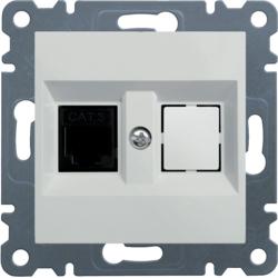 lumina 2 Gniazdo telefoniczne pojedyncze RJ11, biały